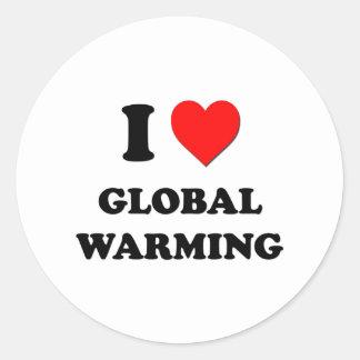 I Love Global Warming Round Sticker