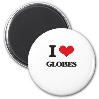 I love Globes Fridge Magnet
