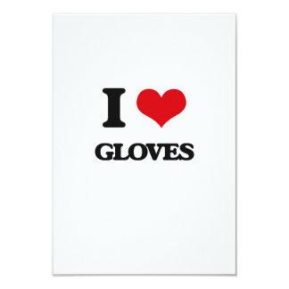 I love Gloves 9 Cm X 13 Cm Invitation Card