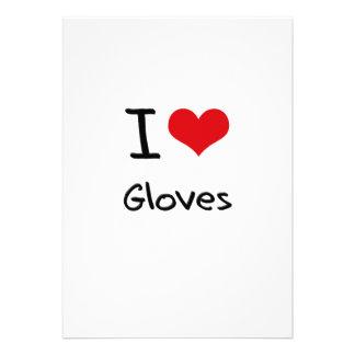 I Love Gloves Personalized Invitation