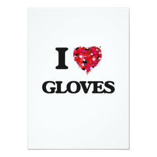 I Love Gloves 13 Cm X 18 Cm Invitation Card