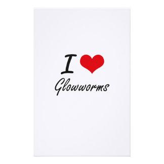 I love Glowworms Customized Stationery