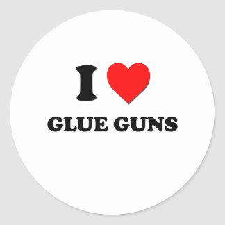 I Love Glue Guns Round Sticker