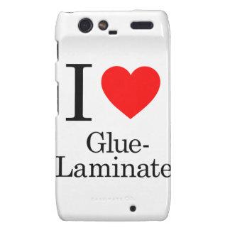 I Love Glue-Laminate Droid RAZR Case