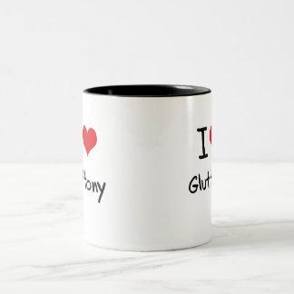 I Love Gluttony Two-Tone Mug