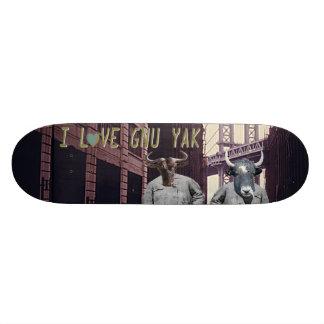 I LoVE GNU YAK Board Chairman Skateboard Deck