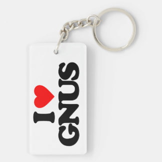 I LOVE GNUS KEY RING