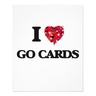 I love Go Cards 11.5 Cm X 14 Cm Flyer