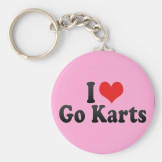 I Love Go Karts Basic Round Button Key Ring