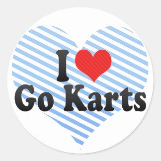 I Love Go Karts Classic Round Sticker
