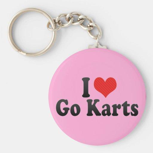 I Love Go Karts Key Chain