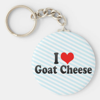 I Love Goat Cheese Key Ring