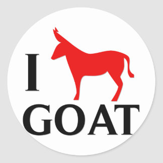I Love Goat Classic Round Sticker