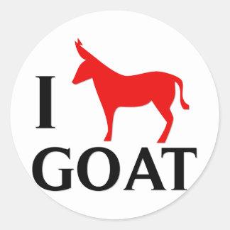 I Love Goat Round Sticker