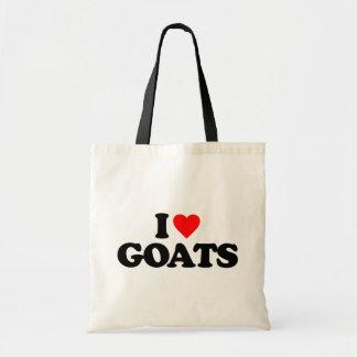 I LOVE GOATS TOTE BAGS