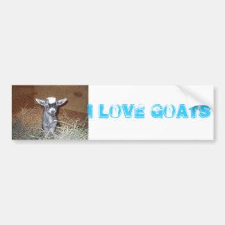 i love goats bumper sticker