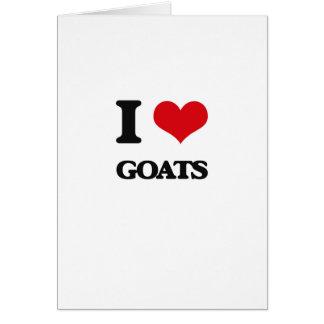 I love Goats Greeting Card