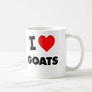 I Love Goats Basic White Mug