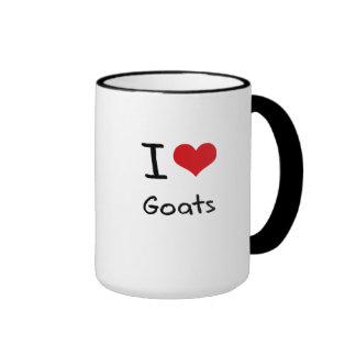 I Love Goats Coffee Mugs