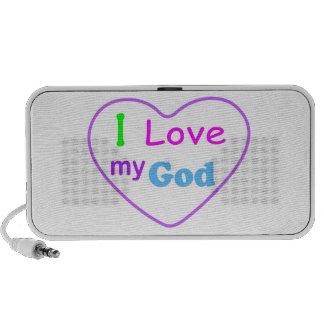 I love God Christian heart Portable Speaker