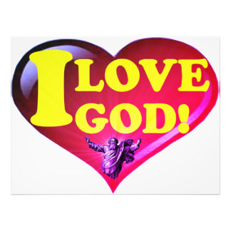 I Love God! Photo Print