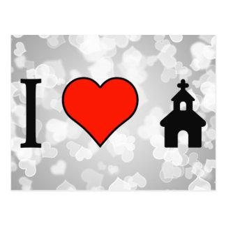 I Love Going To Church Postcard