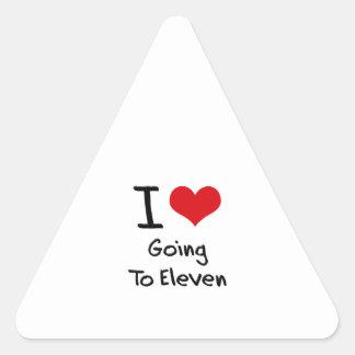 I love Going To Eleven Triangle Sticker