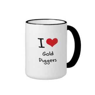 I Love Gold Diggers Ringer Coffee Mug