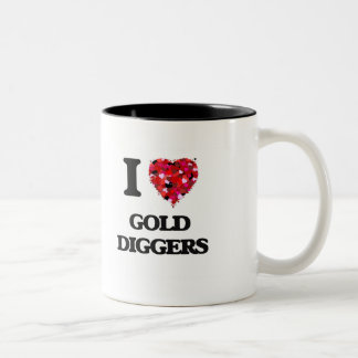 I Love Gold Diggers Two-Tone Mug