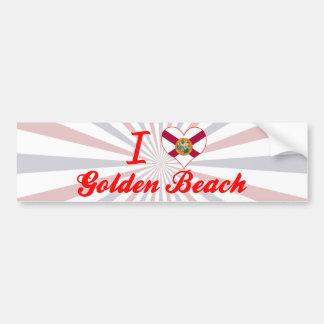 I Love Golden Beach, Florida Bumper Stickers