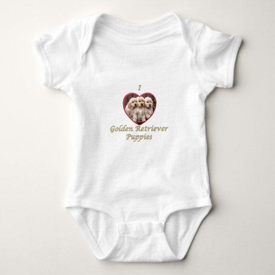 I love Golden Retriever Puppies Baby Bodysuit