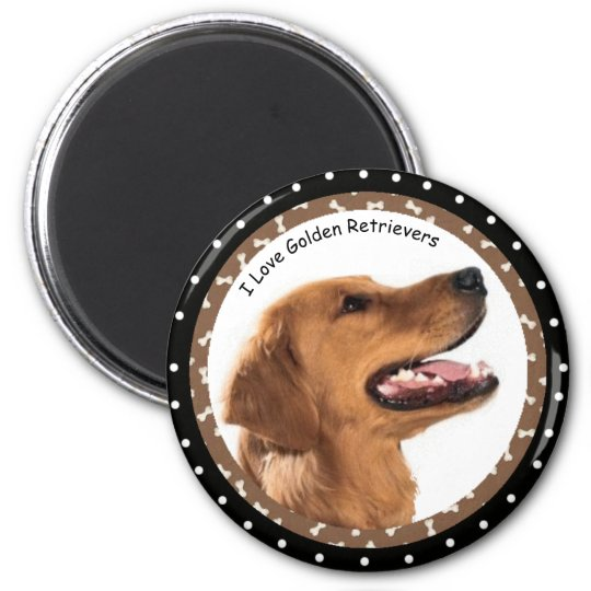 I love Golden Retrievers  Magnet