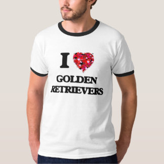 I love Golden Retrievers Tee Shirt