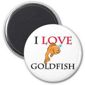 I Love Goldfish 6 Cm Round Magnet