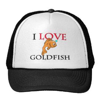 I Love Goldfish Mesh Hats