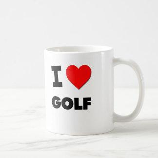 I Love Golf Basic White Mug