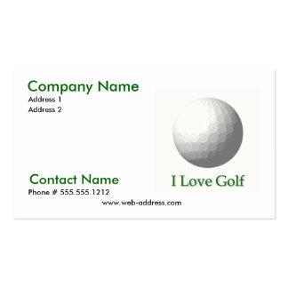 I Love Golf Business Card