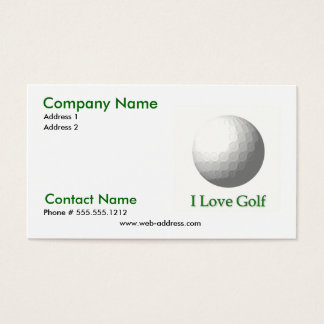 I Love Golf Business Card