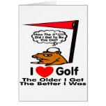 I Love Golf Card
