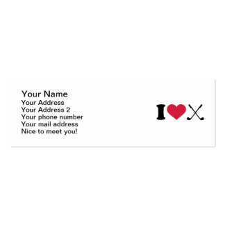 I love Golf clubs Business Card Templates