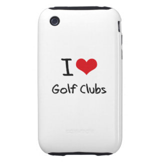 I Love Golf Clubs Tough iPhone 3 Cases