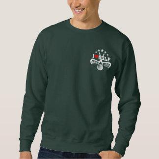 I Love Golf, Crossed Golf Clubs and  Golf Ball Sweatshirt
