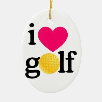 I love golf ceramic oval decoration