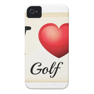 I love golf iPhone 4 cover