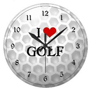 I Love Golf Large Clock