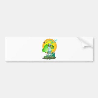 I Love GOLF Lizard Car Bumper Sticker