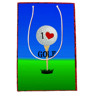 I Love Golf Medium Gift Bag