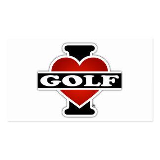 I Love Golf Pack Of Standard Business Cards