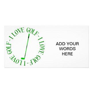 I love golf photo greeting card