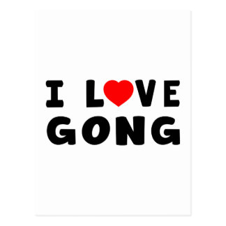 I Love Gong Post Cards